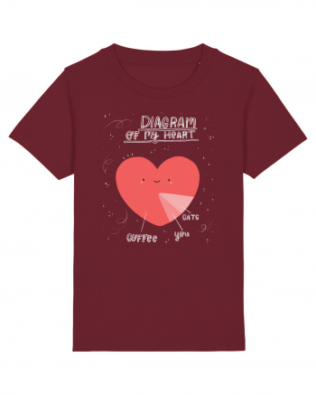 Diagram Of My Heart - light Tricou mânecă scurtă  Copii Mini Creator