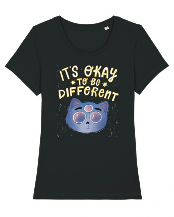 It's Okay To Be Different Cat - light Tricou mânecă scurtă guler larg fitted Damă Expresser