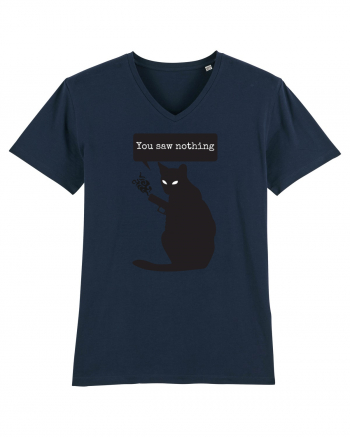 You Saw Nothing Funny Killer Cat Tricou mânecă scurtă guler V Bărbat Presenter