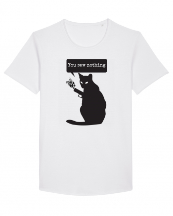 You Saw Nothing Funny Killer Cat Tricou mânecă scurtă guler larg Bărbat Skater