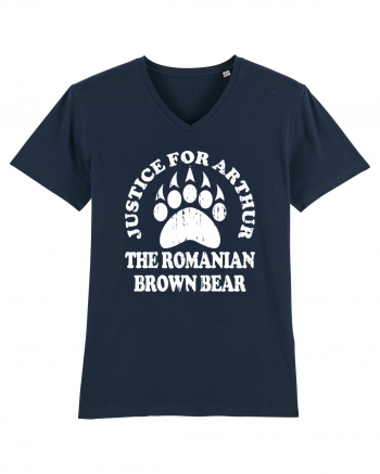 Justice For Arthur The Romanian Brown Bear Tricou mânecă scurtă guler V Bărbat Presenter