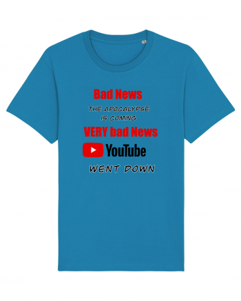 Youtube went down Tricou mânecă scurtă Unisex Rocker