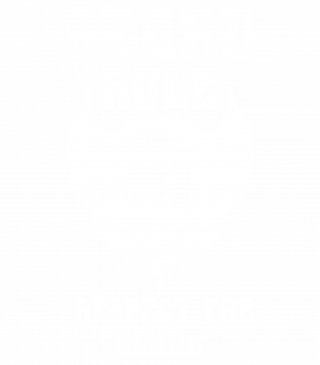 Beard Rule Number One Respect The Beard Retro