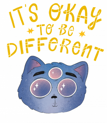 It's Okay To Be Different Cat - dark