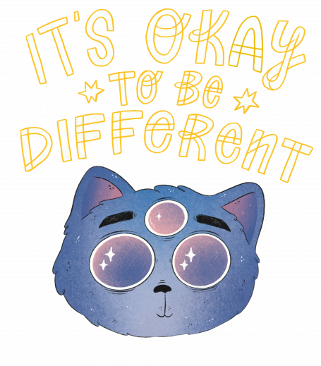 It's Okay To Be Different Cat - light